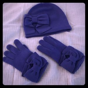 Kate Spade hat & gloves set